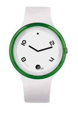 Green and White Disco Watch
