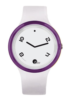 Purple and White Disco Watch