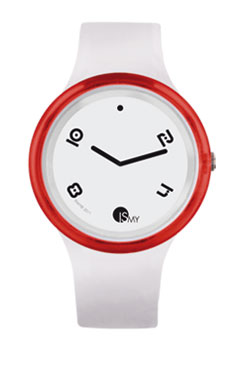 Red and White Disco Watch