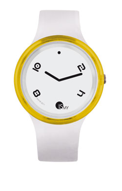 Yellow and White Disco Watch