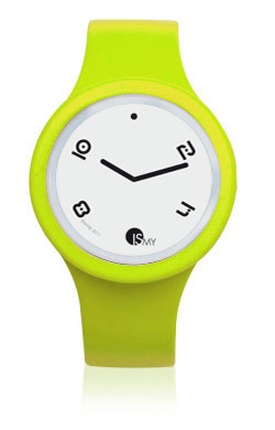 Fluo Yellow Watch-Rubber Strap | Clock MADE IN ITALY