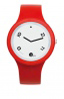 Red Fashion Watch-Rubber Strap | Clock MADE IN ITALY