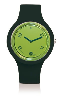 Black Fashion Watch-Rubber Strap | Clock MADE IN ITALY