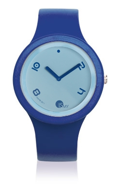 Blue Fashion Watch-Rubber Strap | Clock MADE IN ITALY