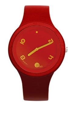 Bordeaux Fashion Watch-Rubber Strap | Clock MADE IN ITALY