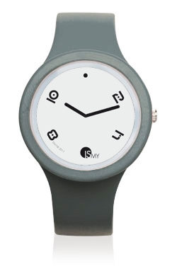 Dark Grey Fashion Watch-Rubber Strap | Clock MADE IN ITALY