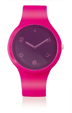 Traslucent Fuchsia Watch-Rubber Strap | Clock MADE IN ITALY