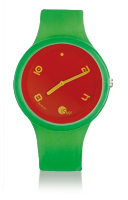 Traslucent Green Watch-Rubber Strap | Clock MADE IN ITALY