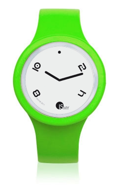 Fluo Green Watch-Rubber Strap | Clock MADE IN ITALY