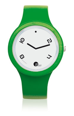 Green Fashion Watch-Rubber Strap | Clock MADE IN ITALY