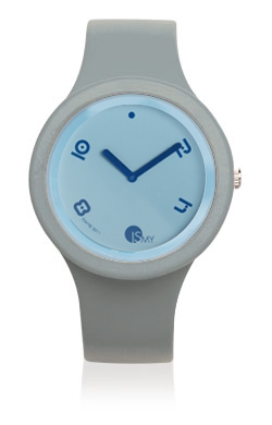 Grey Fashion Watch-Rubber Strap | Clock MADE IN ITALY