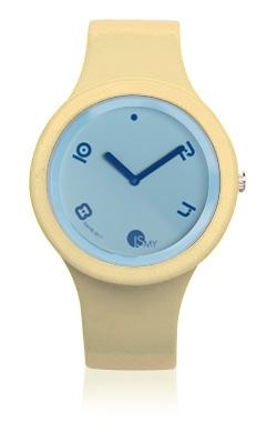 Ivory Fashion Watch-Rubber Strap | Clock MADE IN ITALY