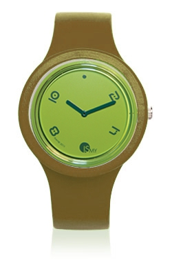 Olive Fashion Watch-Rubber Strap | Clock MADE IN ITALY