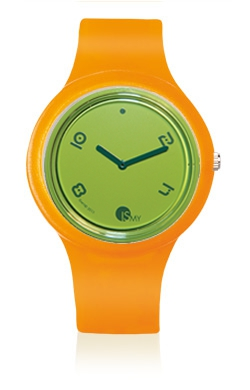 Traslucent Orange Watch-Rubber Strap | Clock MADE IN ITALY