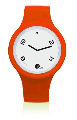 Fluo Orange Watch-Rubber Strap | Clock MADE IN ITALY
