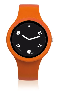 Orange Fashion Watch-Rubber Strap | Clock MADE IN ITALY