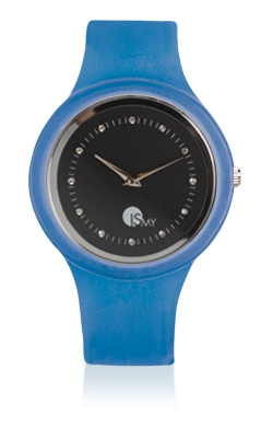 Orologio Traslucido Blu Jeans  - Cinturino in Gomma |MADE IN ITALY
