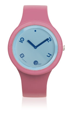 Pink Fashion Watch-Rubber Strap | Clock MADE IN ITALY