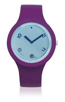 Purple Fashion Watch-Rubber Strap | Clock MADE IN ITALY