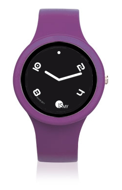 Violet Fashion Watch-Rubber Strap | Clock MADE IN ITALY