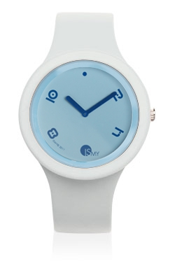 White Fashion Watch-Rubber Strap | Clock MADE IN ITALY