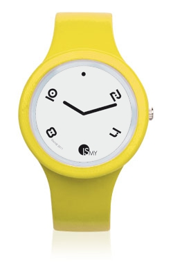 Yellow Fashion Watch-Rubber Strap | Clock MADE IN ITALY